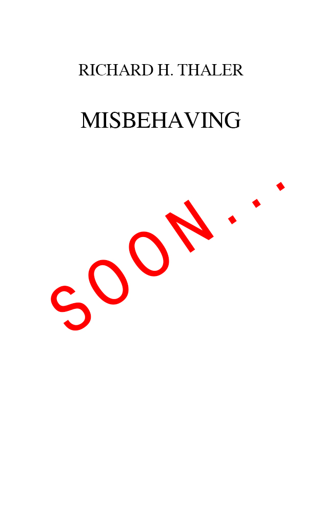 Thaler---Misbehaving